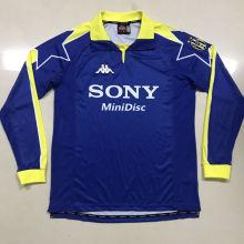 1997-1998 JUV Blue Retro Long Sleeve Soccer Jersey