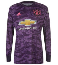 2019/20 Man Utd Purple GK Long Sleeve Soccer Jersey