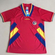 1994 România Red Retro Soccer Jersey