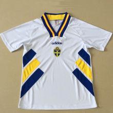 1994-1996 Sweden White Retro Soccer Jersey
