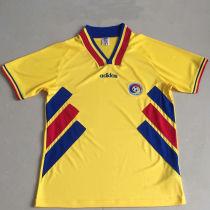 1994 România Yollow Retro Soccer Jersey