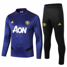 2019/20 Man Utd Blue Sweater Tracksuit