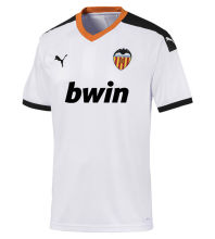 2019/20 Valencia 1:1 Quality Home White Soccer Jersey (Have BWIN)