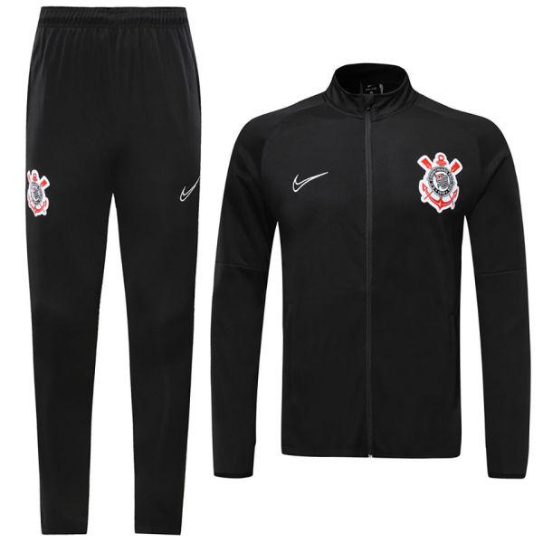 2019/20 Corinthians Black Jacket Tracksuit