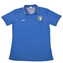 1990 Italy Home Blue Retro Soccer Jersey