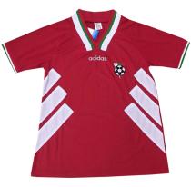 1994 Bulgaria Away Red Retro Soccer Jersey