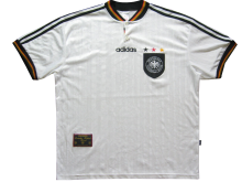 1996 Germany Home White Retro Soccer Jersey