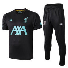 2019/20 Liverpool Black Polo Tracksuit