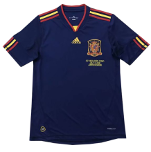 2010 Spain Away Royal Blue Retro Soccer Jersey