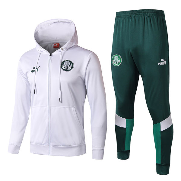 2019/20 Palmeiras White Hoody Zipper Jacket Tracksuit