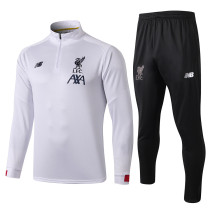 2019/20 Liverpool White Half Pull Sweater Tracksuit