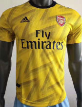 2019/20 Arsenal Away Yellow Palyer Version Soccer Jersey