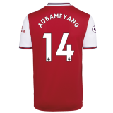 AUBAMEYANG #14 Arsenal Home Red Fans Soccer Jersey 19/20