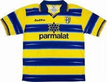 1998-1999 Parma Home Yellow Retro Soccer Jersey
