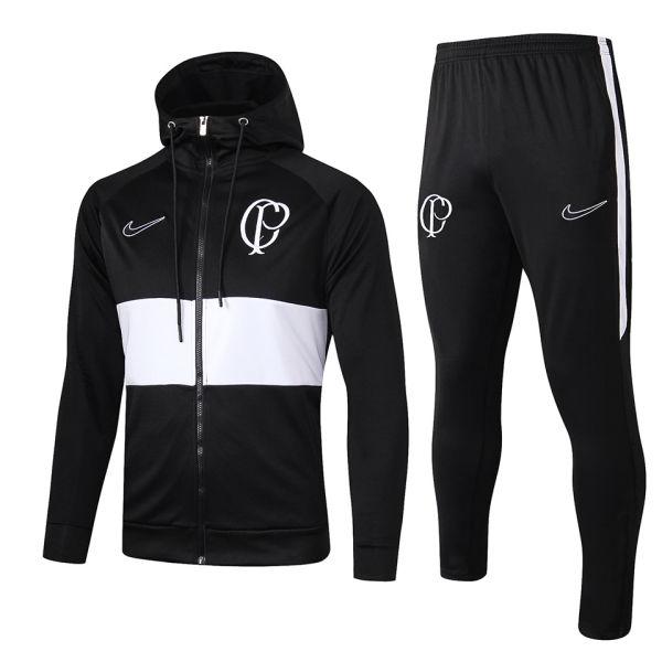 2019/20 Corinthians Black Hoody Zipper Jacket Tracksuit