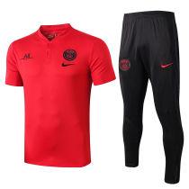 2019/20 PSG Paris Red Polo Tracksuit Suit