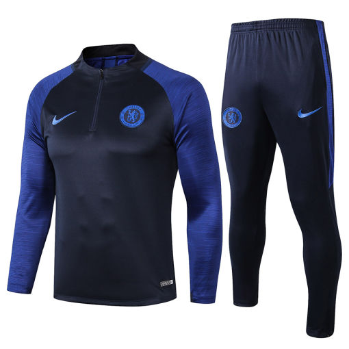 2019/20 Chelsea Blue Half Pull Sweater Tracksuit