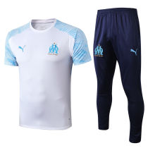 2019/20 Marseille White Tracksuit Suit