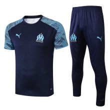 2019/20  Marseille Royal Blue Tracksuit Suit