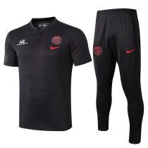 2019/20 PSG Paris Black Polo Tracksuit Suit