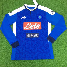 2019/20 Napoli Home Long Sleeve Soccer Jersey