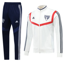 2019/20 Sao Paulo Rice White Jacket Tracksuit Full Sets (力辉米白色)