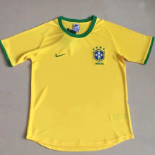 2000 Brazil Home Yellow Retro Soccer Jersey