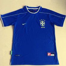 1998 Brazil Away Blue Retro Soccer Jersey