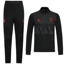 2019/20 PSG Paris Jordan Black High collar Jacket Tracksuit