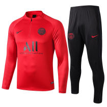 2019/20 PSG Paris Red Half Pull Sweater Tracksuit