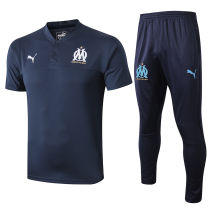 2019/20 Marseille Royal Blue Polo Tracksuit