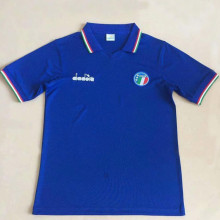 1986 Italy Home Blue Retro Soccer Jersey