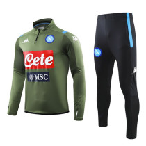 2019/20 Napoli Green Half Pull Sweater Tracksuit