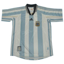 1998 World Cup Argentina Home Retro Soccer Jersey