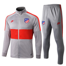 2019/20 Atletico Madrid Gray Red Jacket Tracksuit