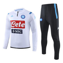 2019/20 Napoli White Half Pull Sweater Tracksuit