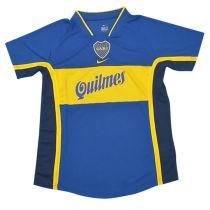 2001 Boca Junior Home Retro Soccer Jersey