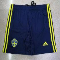 2020 Euro Sweden Home Shorts Pants