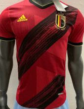 2020 Euro Belgium Home Player Version Soccer Jersey