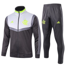 2019/20 Flamengo Black And Gray Jacket Tracksuit Full Sets