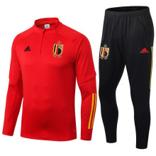 2020 Europe Belgium Red Half Pull Sweater Tracksuit