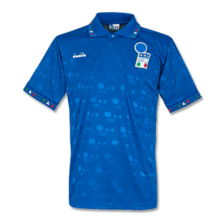 1994 Italy Home Blue Retro Soccer Jersey