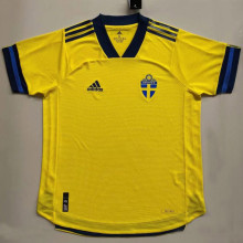 2020 Euro Sweden Home Player Soccer Jersey