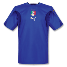 2006 Italy Home Blue Retro Soccer Jersey
