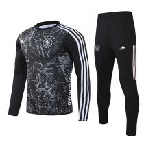 2020 Germany Black Sweater Tracksuit