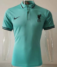 2020/21 Liverpool Green Polo Short Jersey