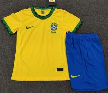 2020/21 Brazil Home Kids Soccer Jersey