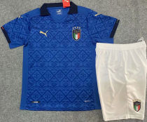 2020 Euro Italy Home Kids Soccer Jersey