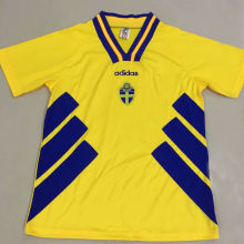 1994-1996 Sweden Home Retro Soccer Jersey