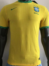 2020/21 Brazil Home Yellow Player Soccer Jersey